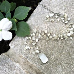Polished Selenite Necklace